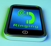 Ringing Icon On A Mobile Phone Showing Smartphone Call — Stock Photo