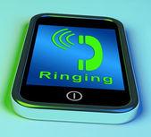 Beltonen pictogram op een mobiele telefoon tonen smartphone oproep — Stockfoto
