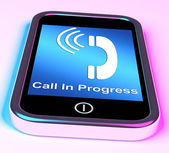 Call In Progress Picture On Mobile Smartphone — Stock Photo