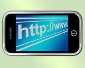 Http Address Shows Online Websites Or Internet — Stock Photo