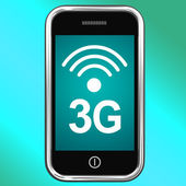 3g Internet Connected On Mobile Phone — Stock Photo