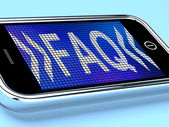 Faq Message On A Mobile Phone Shows Help — Stock Photo