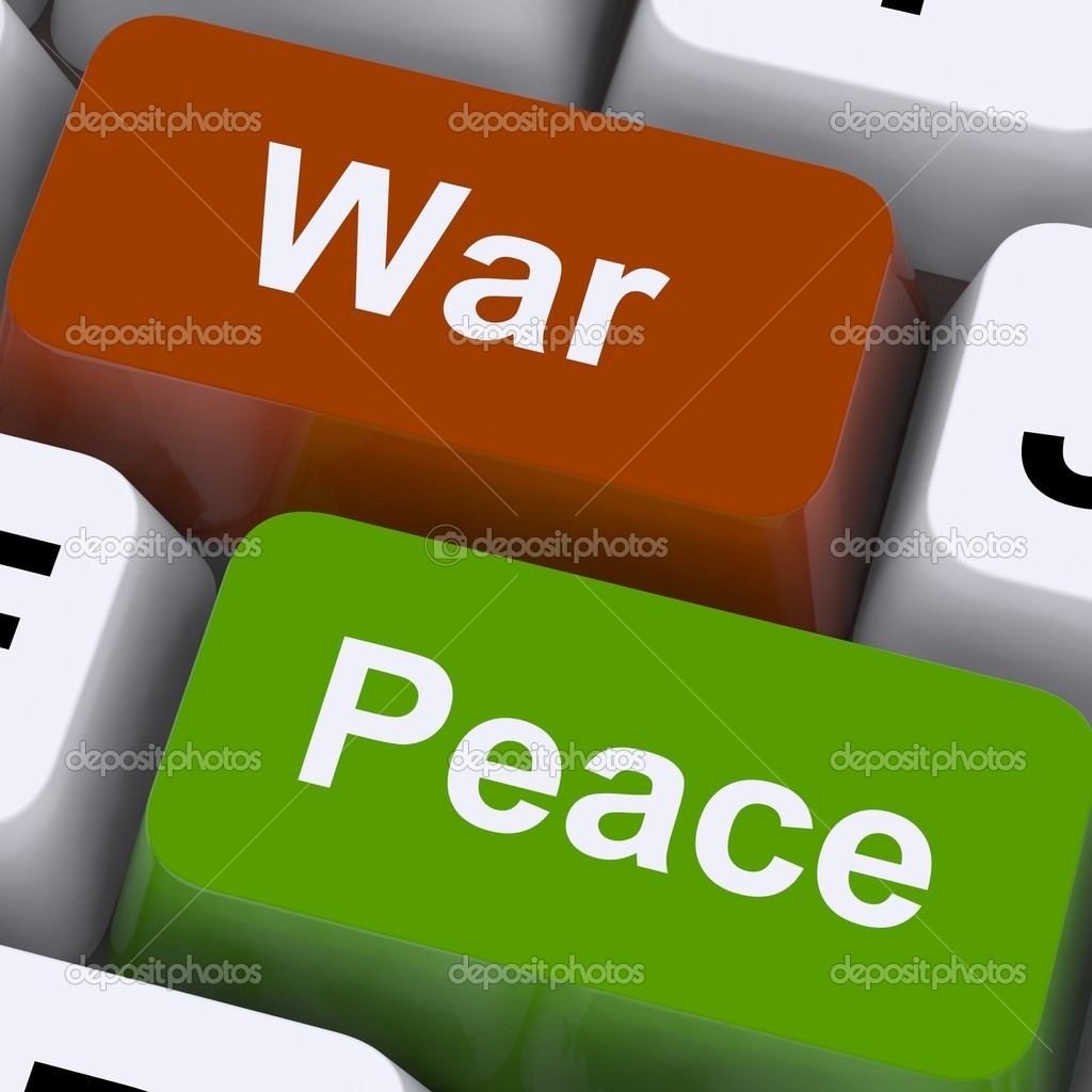 Peace War Keys Showing No Conflict Or Aggression — Stock Photo #11843150