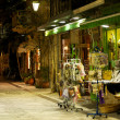 Night street in Nafplio, Greece — Stock Photo