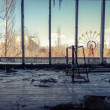 Stock Photo: Abandoned room in chernobyl 2012