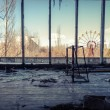 Foto de Stock  : Abandoned room in chernobyl 2012