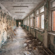 Abandoned corridor in pripyat school 2012 - Stock Photo