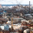 Kiev city from a mountain — Stock Photo