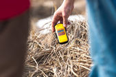 Geiger counter in polluted environment — Stock Photo