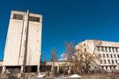 отель полесье в чернобыльскую зону, припять — Стоковое фото