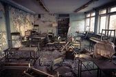 Abandoned school in Chernobyl 2012 March 14 — Stock Photo