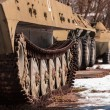 Old war machine outdoors - 