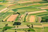 Aerial view of many fields — Stock Photo