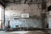 Basket ball room in Chernobyl — Stock Photo