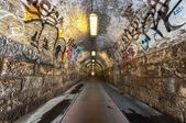 An old industrial tunnel — Stockfoto