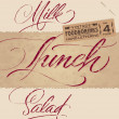 Vintage menu headlines set (vector) — Stock Vector #10745284