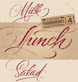 Vintage menu headlines set (vector) — Stock Vector