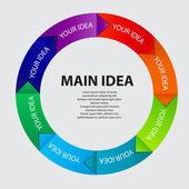 Concept van kleurrijke circulaire banners met pijlen voor verschillende b — Stockfoto