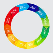 Concept of colorful Time Wheel vector illustration — Stock Photo