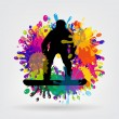 Snowboarding background vector illustration — Stock Photo