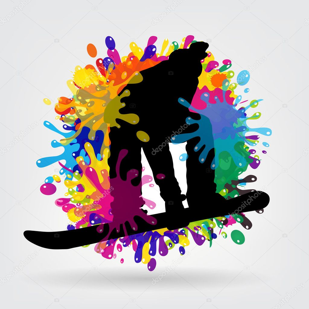 Snowboarding background vector illustration — Stock Photo #11072145