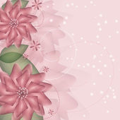 Romantic Flower vector Background — Stock Photo