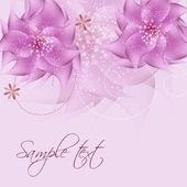 Romantiska blomman vektor bakgrund — Stockfoto