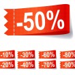 Set of discount labels. Vector illustration. - Stock Photo