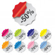 Paper Discount labels with different corner. vector illustration — Foto de Stock