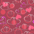 Valentine seamless hearts pattern vector illustration — Stock Photo