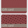 Abstract beautiful set of gift card design, vector illustration. — Stock Photo #11119009