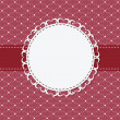 Стоковое фото: Vintage frame with bow vector illustration