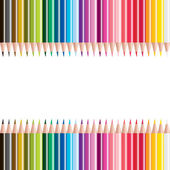 Vector illustrationt of colored pencils — Stock Photo