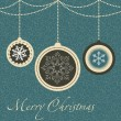 Christmas card with balls and snowflakes. vector illustration — Stock Photo #11184139