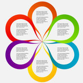 Concept of colorful circular banners in flower form for differen — ストック写真
