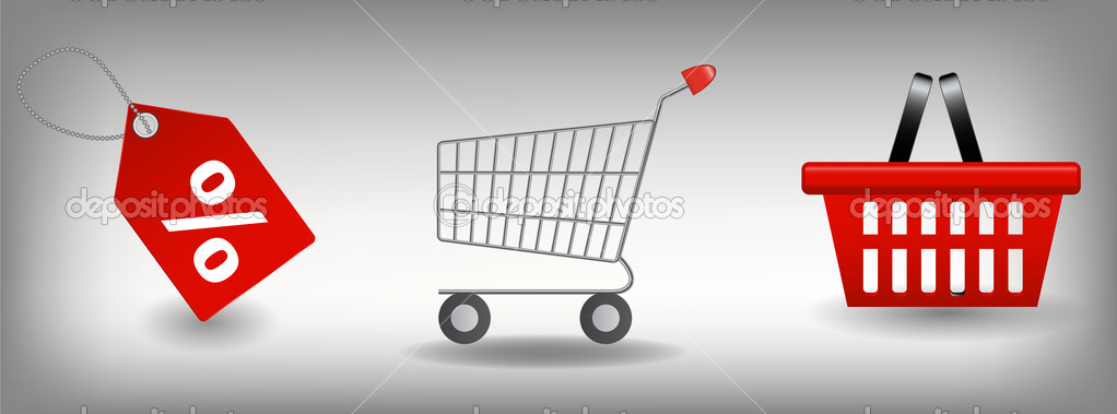 Shopping icons set. Vector illustration — Stock Photo #11227183