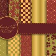 Set of beaautiful vector paper for scrapbook — Stock Photo #11258731