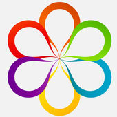 Concept of colorful circular banners in flower form for differen — Stock Photo