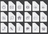 Set of web buttons vector illustration — Stock Photo