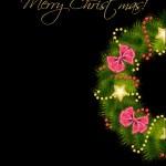 Realistic christmas wreath. vector illustration — Stock Photo