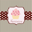 Stock Photo: Cupcake invitation background