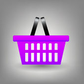 Shopping basket icon vector illustration — Stock Photo