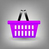 Shopping basket icon vector illustration — Stock Photo