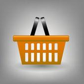 Orange shopping basket icon vector illustration — Stock Photo