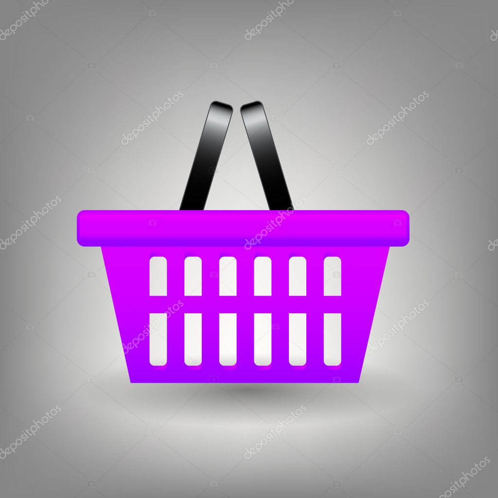 Shopping basket icon vector illustration — Stock Photo #11854670