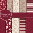 Set of beaautiful vector paper for scrapbook — Stock Photo #11865083