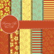 Set of beaautiful vector paper for scrapbook — Stock Photo #11865239