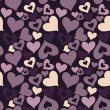 Valentine seamless hearts pattern — Stock Photo #11865615