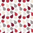 Vector seamless fruit pattern- apple and pear — Stock Photo