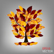 Autumn tree with colorful leaves. Vector illustration. — Stock Photo
